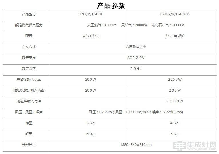 优格集成灶灵悦系列U02