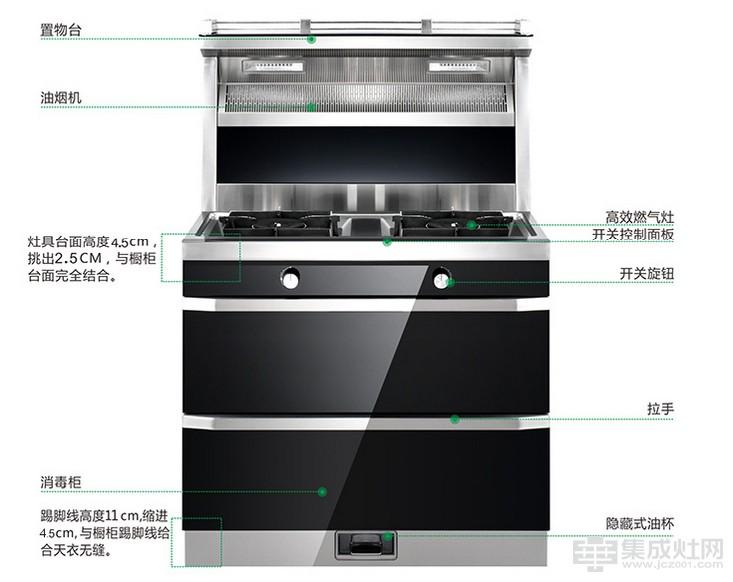 金帝集成灶C750J系列