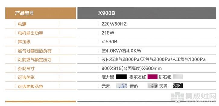 金帝集成灶X900B