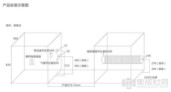 美盼集成灶无极风尚MPJ-C820B