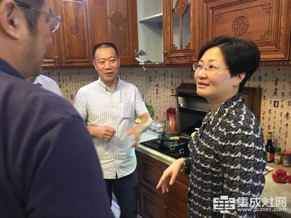 海盐县县委书记陈玲芳一行人等调研法瑞集成灶