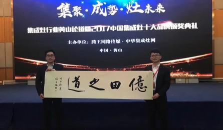 """亿田集成灶再获""""2017中国集成灶十大品牌"""""""