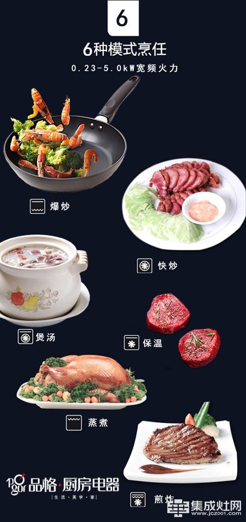 新品上市:品格大火力安全灶 智享烹饪健康安全