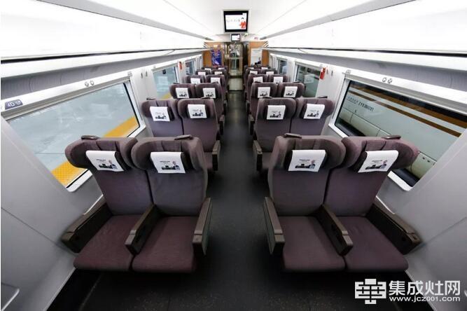 杰森变频集成灶高铁广告车厢实图 将择日发车