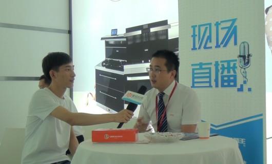 【上海展】优格集成灶营销总监钱立成:加大品牌升级投入 打造优格产品新未来