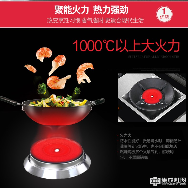 欧诺尼集成灶:不怕你厨艺有限 就怕你火力掉线