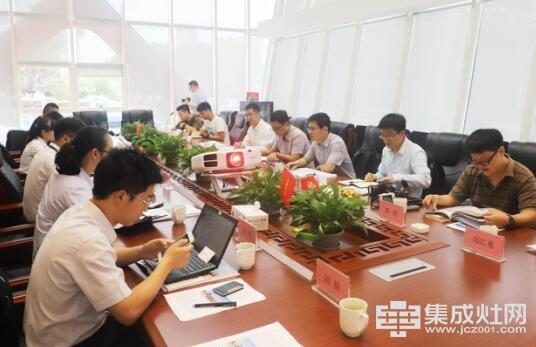 中国集成灶考察团莅临帅丰 专业品质赢盛赞