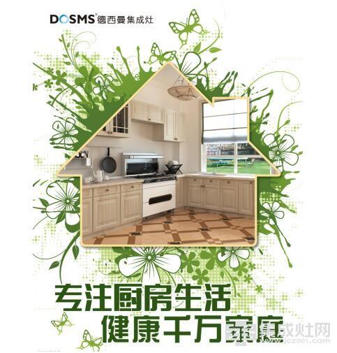 智能厨电 厨房必备德西曼集成灶