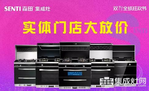 森田集成灶:狂欢双十一 整体橱柜9880带回家