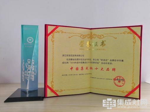 十大品牌证书、奖杯