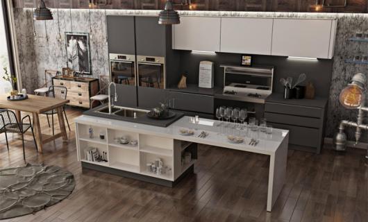 优格橱柜的小吧台 让厨房时尚爆了