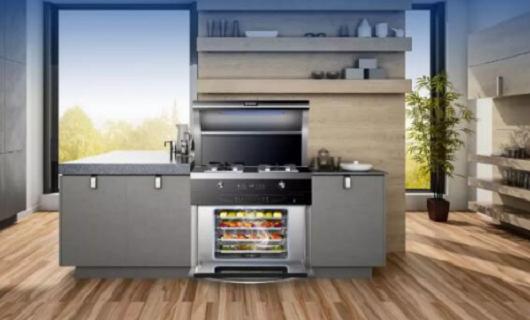 能蒸能烤的板川蒸烤一体集成灶 一台搞定各式美食
