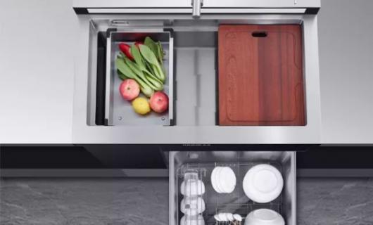 新品首发 金帝集成水槽洗碗机A3 打造新一代厨房清洁中心