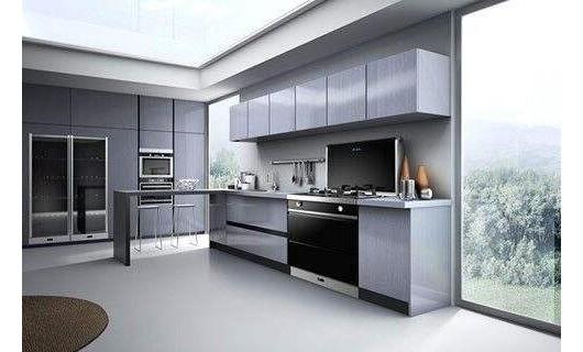扬子集成环保灶是开放式厨房的标准配置