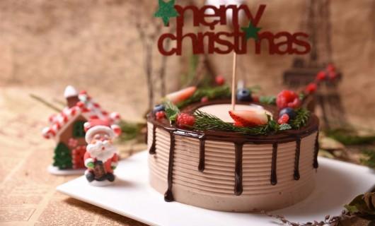 德普凯信集成灶美食 圣诞花环蛋糕