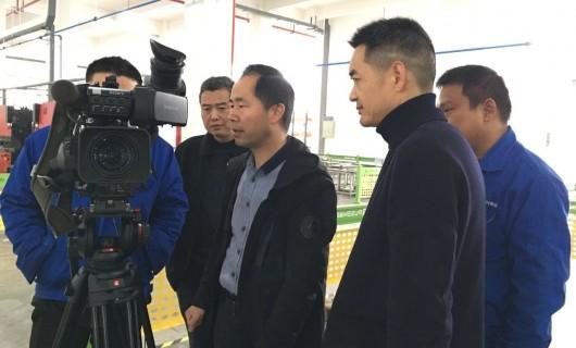 嵊州电视台走进普森 采访报道普森4.0智慧工业新工厂