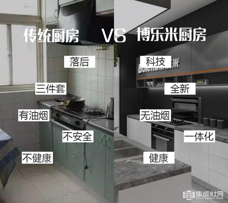 新老厨房对比