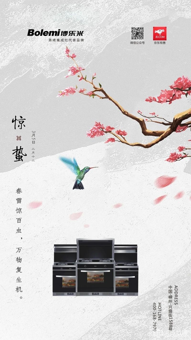 博乐米集成灶惊蛰海报