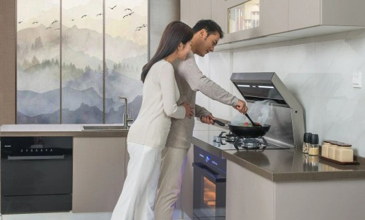 力巨人集成灶:开放式厨房装修 潮流的你或许很喜欢