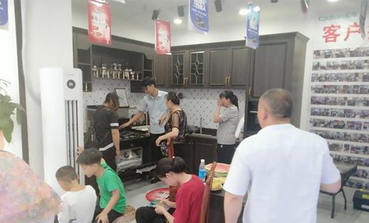 终端一线 潮邦集成灶重庆江津店夜宴活动圆满成功