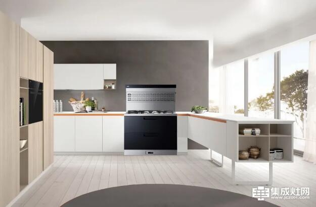 开放式厨房+力巨人集成灶 厨房颜控首选