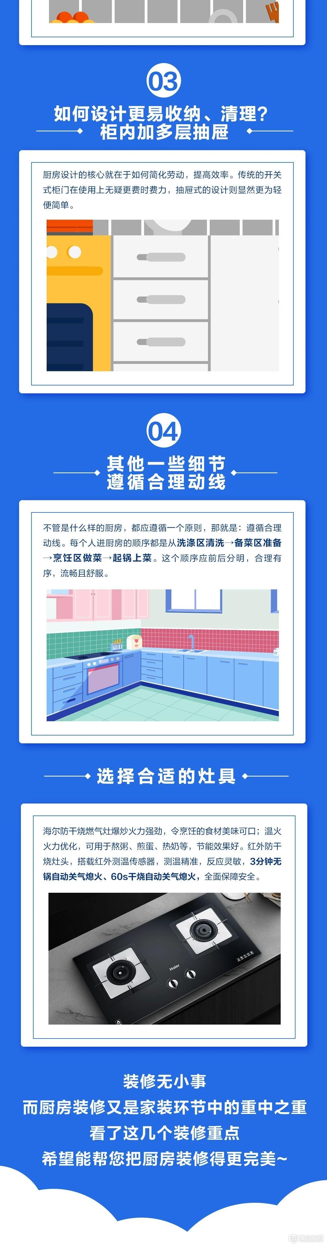 海尔厨电:关于厨房装修的注意事项 你了解多少呢